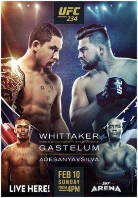 UFC 234 Sun 10th Feb 2pm