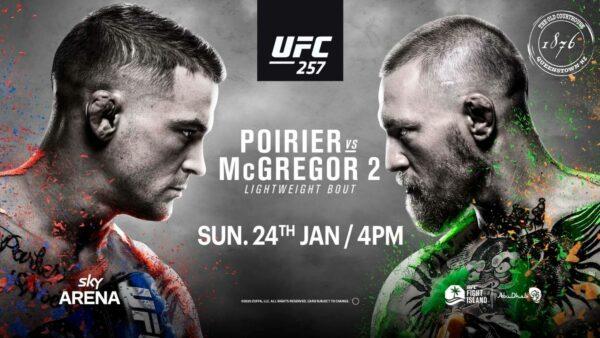UFC 257 Poirier V McGregor